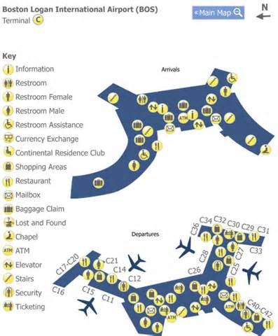 Boston Terminal Map by Map Of Boston Logan Airport Terminals Images