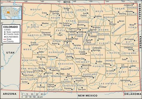 state map of colorado state and county maps of colorado