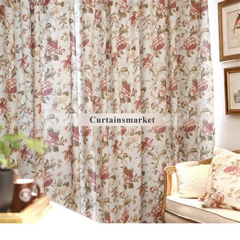 country curtains on sale country style cotton and linen printing curtains on sale