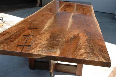 custom wood slab table tops live natural edge hardwood