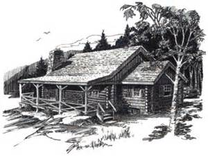 Log Cabin Drawings by Log Cabin Drawings Cabin In The Woods Drawing Cabin