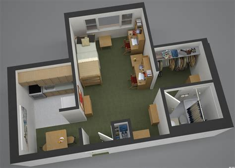Floor Plan Studio Apartment by Canisius Hall Residence Life Loyola University Chicago