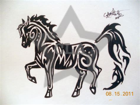 horse tribal tattoos tribal