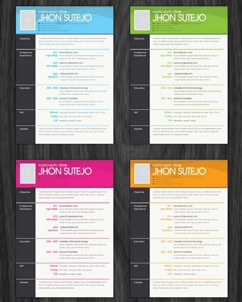 creative resumes templates free creative resume template free doc templates