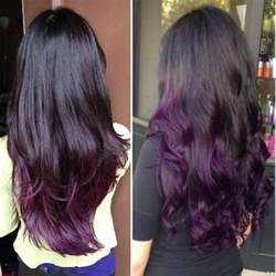 coloring ombre hair black to purple ombre hair color archives vpfashion