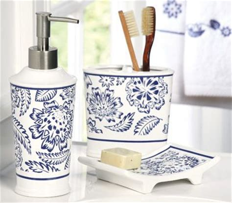 Westbrook Blue White Bathroom Accessory Set For The Navy Blue Bathroom Accessories