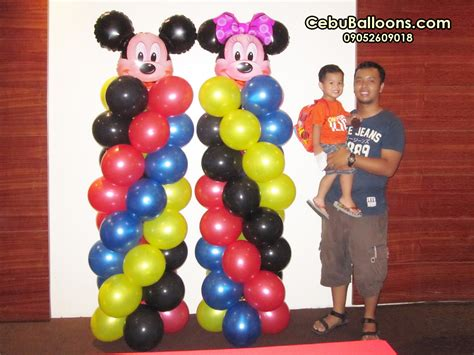 balloon decor mickey mouse theme minnie mouse cebu balloons and supplies