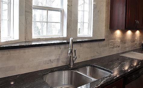 black granite white marble backsplash backsplash