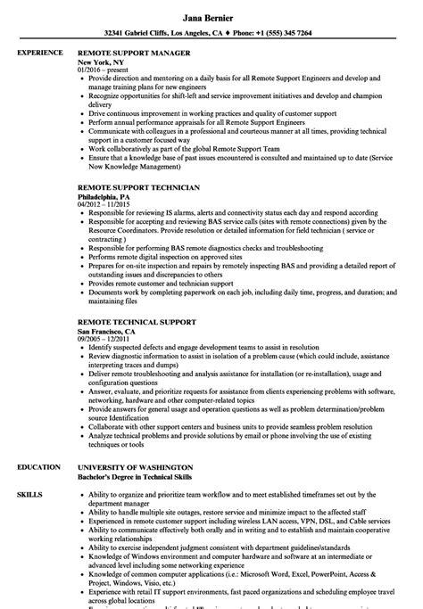 resume format for remote support engineer remote support resume sles velvet