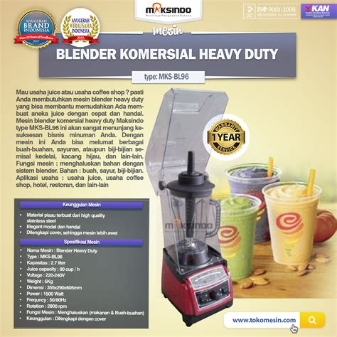 Blender Jogja jual mesin blender komersial heavy duty bl96 di