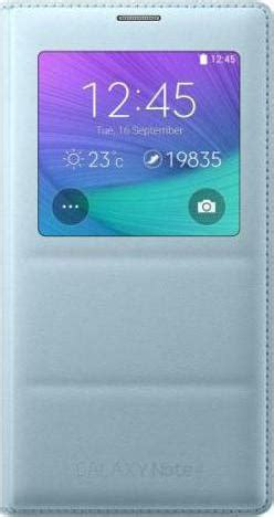 Samsung S View Galaxy Note 4 Blue samsung s view flip cover mint blue galaxy note 4