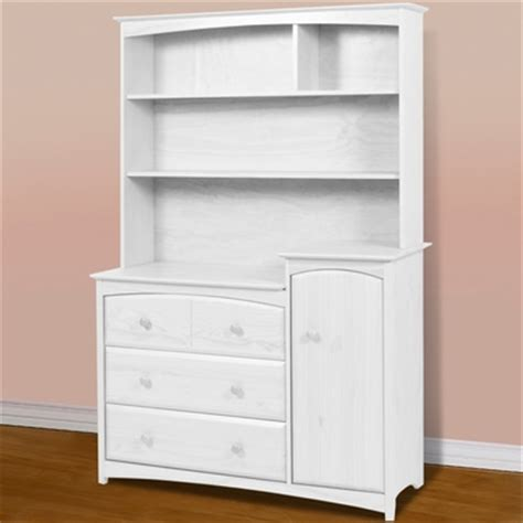 Changing Table Dresser Hutch Beatrice Combo Tower W Hutch In White 03585 741 03741 121 By Storkcraft Changing Tables