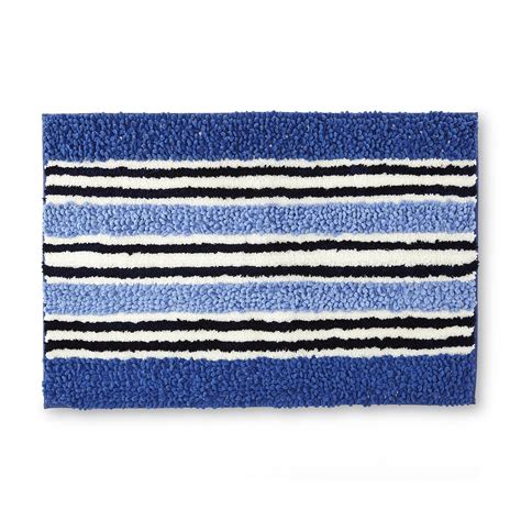 striped bath rug essential home striped bath rug home bed bath bath