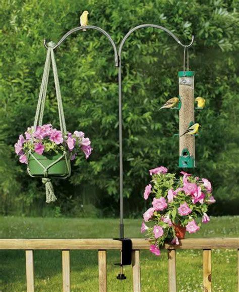 Deck Railing Planter Hooks by Duncraft Arm Rail Bracket