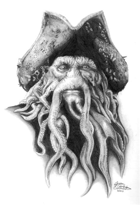 davy jones skull pirate tattoo flash real photo pictures