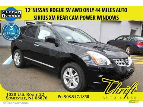 black nissan rogue 2012 2012 super black nissan rogue sv awd 103082356 photo 38