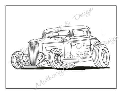 printable coloring pages hot rods this listing is for a printable classic hot rod coloring
