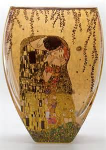 gustav klimt vase en verre 22 cm