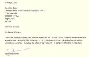 resignation letter format effective board excecutive