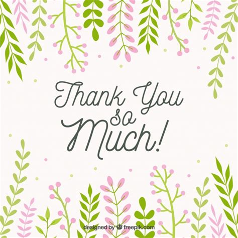 thank you background thank you background with decorative leaves vector free