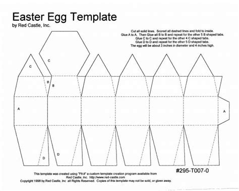 3d Easter Card Templates by Egg Template By Myartistry At Splitcoaststers