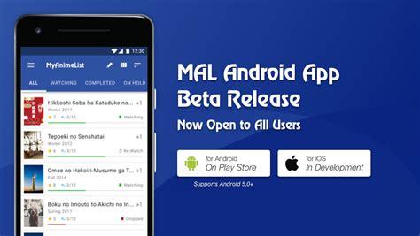 Myanimelist App by Update Mar 1 Mal S Official Mobile App Now In Open