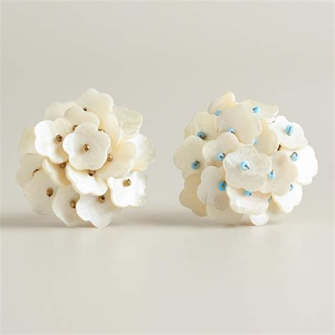 Of Pearl Knobs by Of Pearl Knobs With Blue Set Of 2 World Market