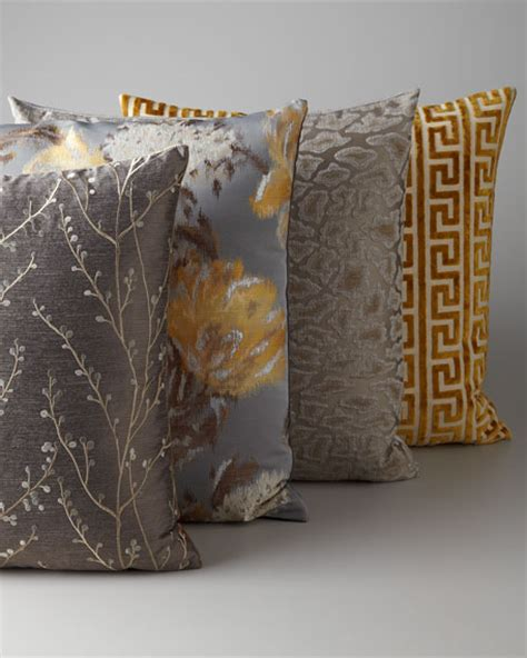 grey and gold d v kap home gray gold pillow group