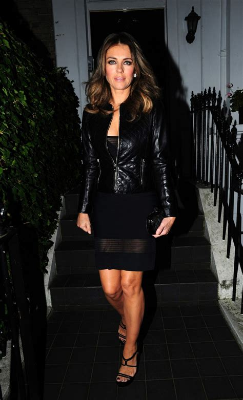 Liz Hurley In Brittish In Style by Liz Hurley Out Style At S Restaurant In