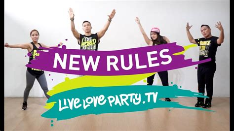 Dua Lipa Zumba | new rules by dua lipa zumba 174 live love party dance