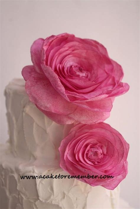 How To Make Edible Wafer Paper Flowers - wafer paper flower for cake decorating wedding cake