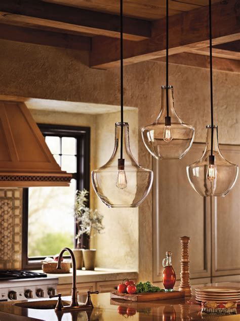 Lighting Kitchen Pendants Kichler Lighting 42046oz Everly Olde Bronze Pendant Farmhouse Kitchen Chicago By Littman