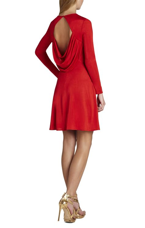 draped dresses with sleeves sam long sleeve draped dress