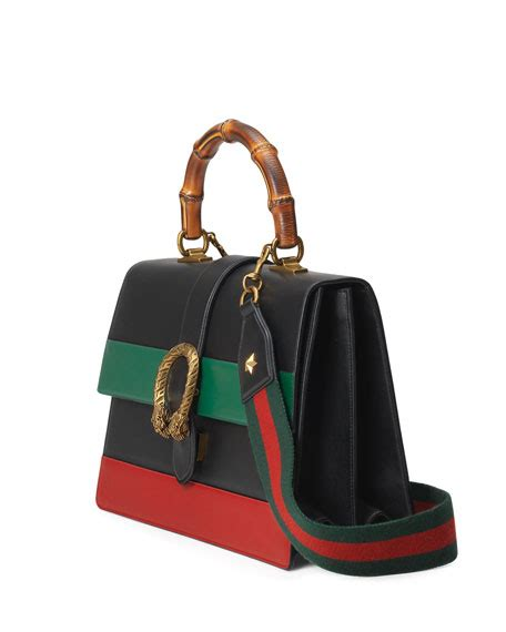 Gucci Dionysus Stripe Bamboo Top Handle Summer gucci dionysus striped bamboo top handle bag neiman