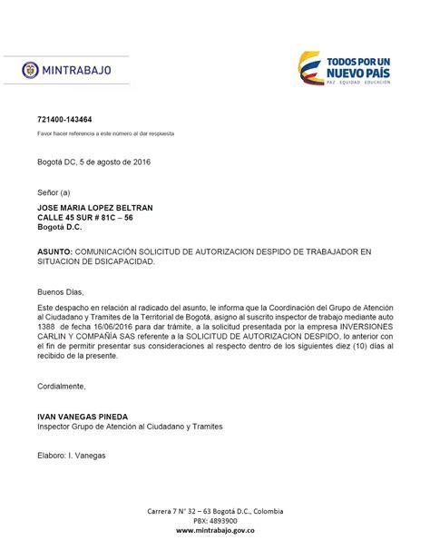 ejemplo carta de despido laboral carta de despido ejemplos definanzascom psicolabor