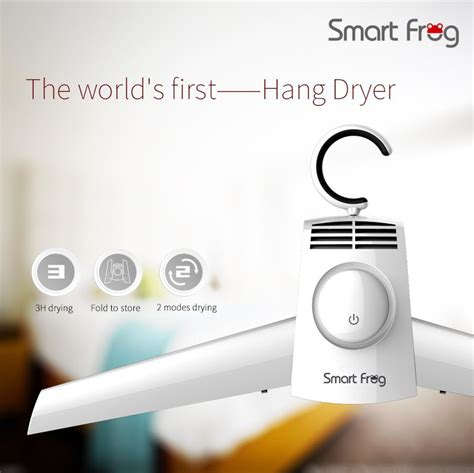 Smart Frog Portable Electric Clothes Dryer Hanger Smart Hanger smartfrog kw gyq01 portable electric clothes shoes dryer hangers hangerworld travel folding