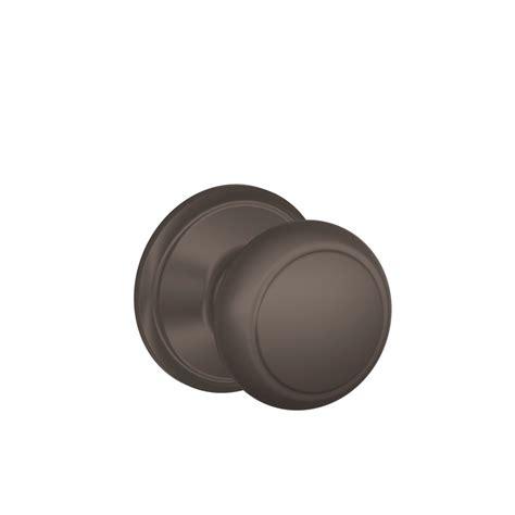 shop schlage andover rubbed bronze passage door