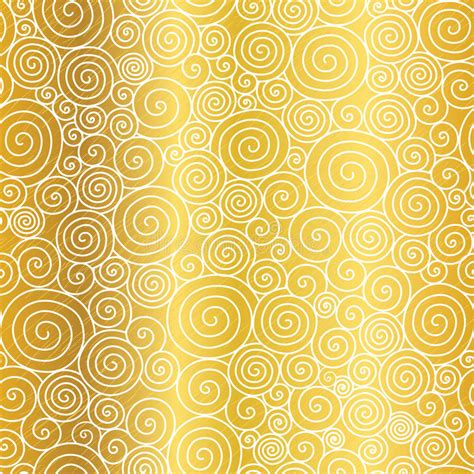 gold pattern card stock vector golden abstract swirls seamless pattern background