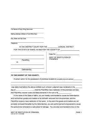 eviction notice form fill out, print & download online