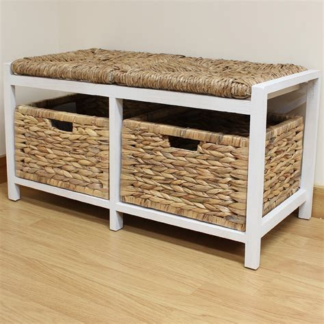 small storage bench with baskets hartleys farmhouse bench seat storage baskets hallway