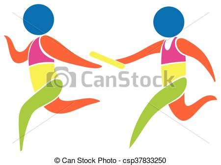 relay for colors relay race icon in colors illustration