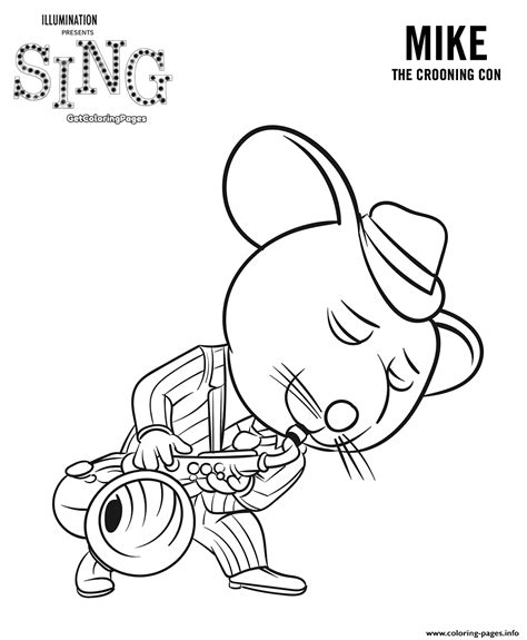 who sings in color sing coloring pages mouse mike coloring pages printable