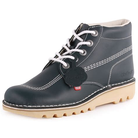 kickers shoes kickers kick high mens leather navy ankle boots new shoes