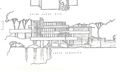 Water View House Plans by Falling Water Plans And Elevations Falling Water