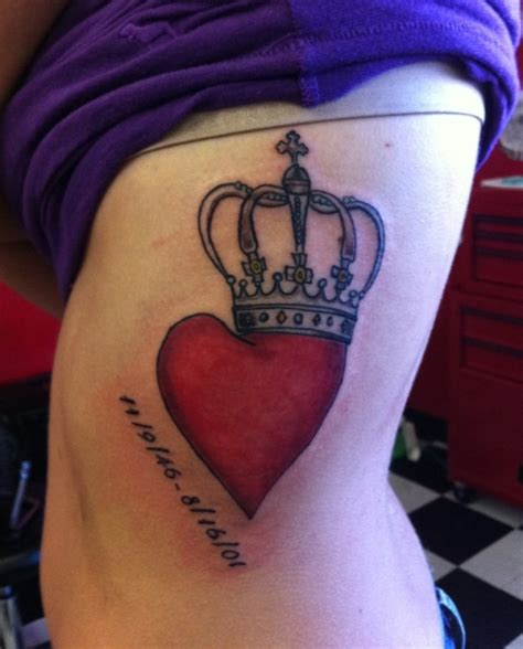 heartbeat tattoo on side crown tattoos and designs page 60