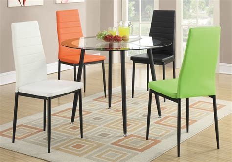 Set Of 4 Retro Dining Chairs W Faux Leather Black Metal Coloured Leather Dining Chairs