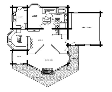 Floor Plans For Log Homes Log Home Floor Plan Ponderosa
