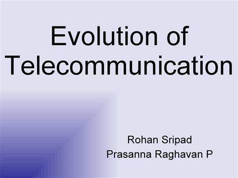 Evolution Of Telecommunication Telecommunication Presentation