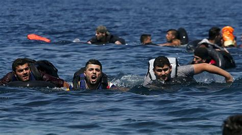 34 refugees drown while trying to swim to freedom youtube - Refugee Boat Hoax