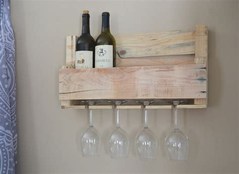 upcycled wine rack upcycled wooden wine rack with glass holders sanded
